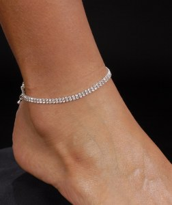 2 Row Anklet *NEW* NEW!! Rhinestone anklet with 2 rows.