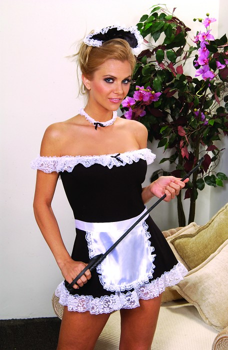 4pc Maid Costume This 4pc Maid costume puts it all