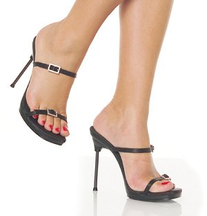 Chic-02 Shoes *NEW* NEW!! 4 1/2 inch stiletto heel with 1/4 inch platform shoes with rhinestone accented buckles. 