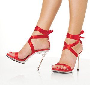 Chic-14 Tie Ribbon Shoes *NEW* NEW!! 4 1/2 inch stiletto heel with 1/4 inch platform shoes with satin tie. 