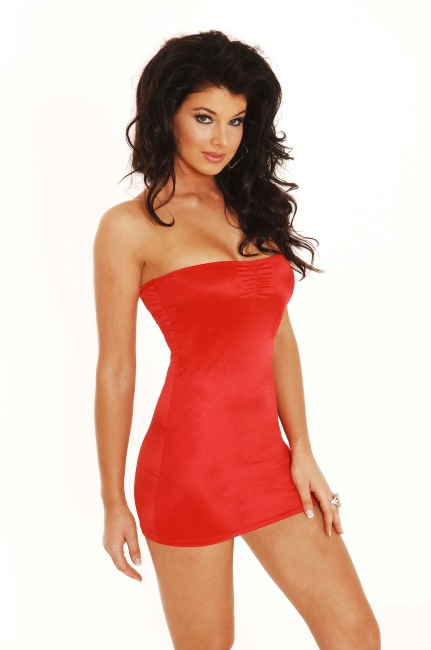 Slinky Tube Dress Lycra mini dress with