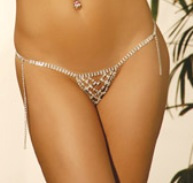 Sexy Criss Cross Rhinestone G-String Criss cross rhinestone pattern is oh so sexy.