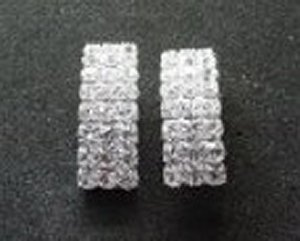 Rectangle Rhinestone Earrings *NEW* NEW!! Rhinestone earrings in the shape of a rectangle. Size is 1 inch.