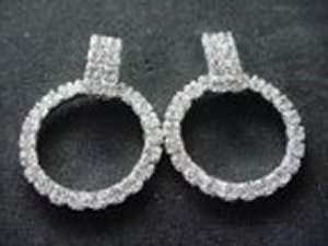 Square and Hoop Earrings *NEW* NEW!! Rhinestone earrings with rhinestone square on top and rhinestone hoops. Size of earring is 1 1/2 inches.