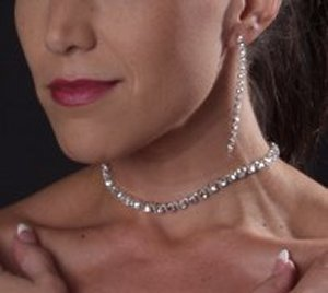 Large Stone Choker *NEW* NEW!! Rhinestone choker with large stones. Single row.