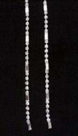 Single Row Dangle Earrings *NEW* NEW!! Rhinestone earrings with single row. Length of earring is 6 inches.