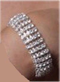 5 Row Bracelet *NEW* NEW!! Rhinestone bracelet with 5 rows.